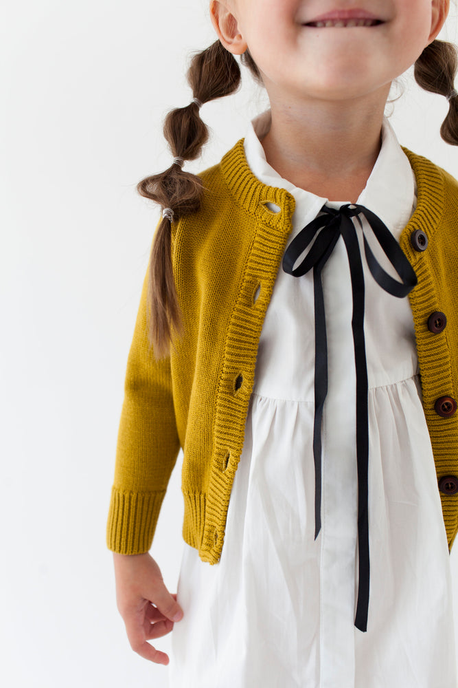 MUSTARD CARDIGAN SWEATER