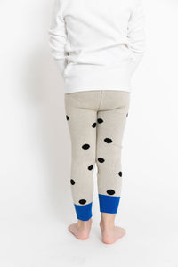 CREAM POLKA DOT LEGGINGS
