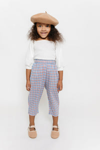 PERIWINKLE PLAID PANTS