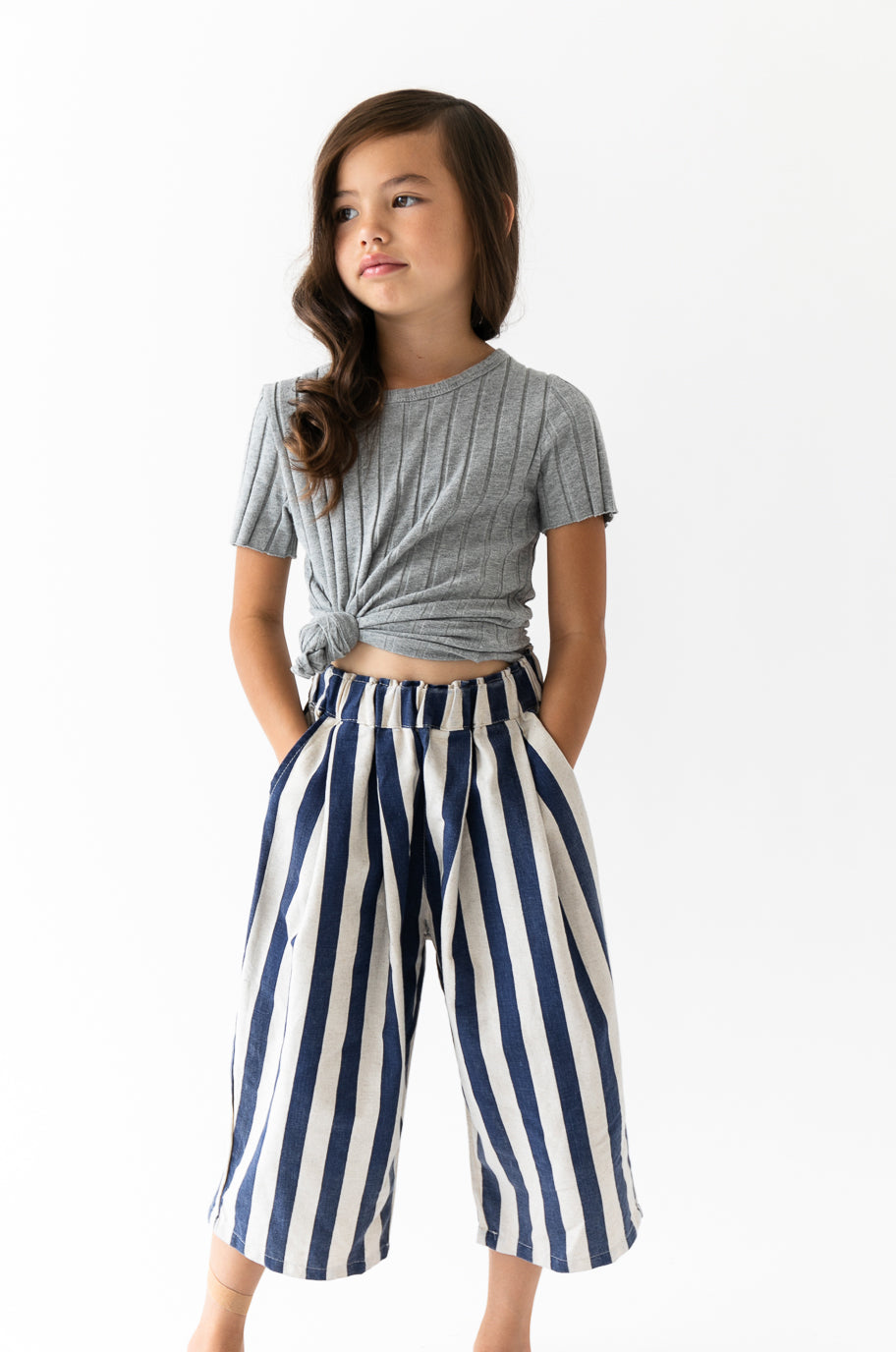 NAVY STRIPED CULOTTES