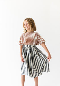 BLACK STRIPED SKIRT