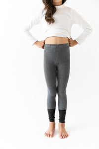 GREY COLOR BLOCK LEGGINGS