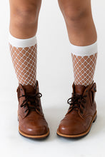 WHITE FENCE NET SOCKS