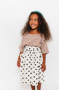 POLKA DOT POCKET SKIRT
