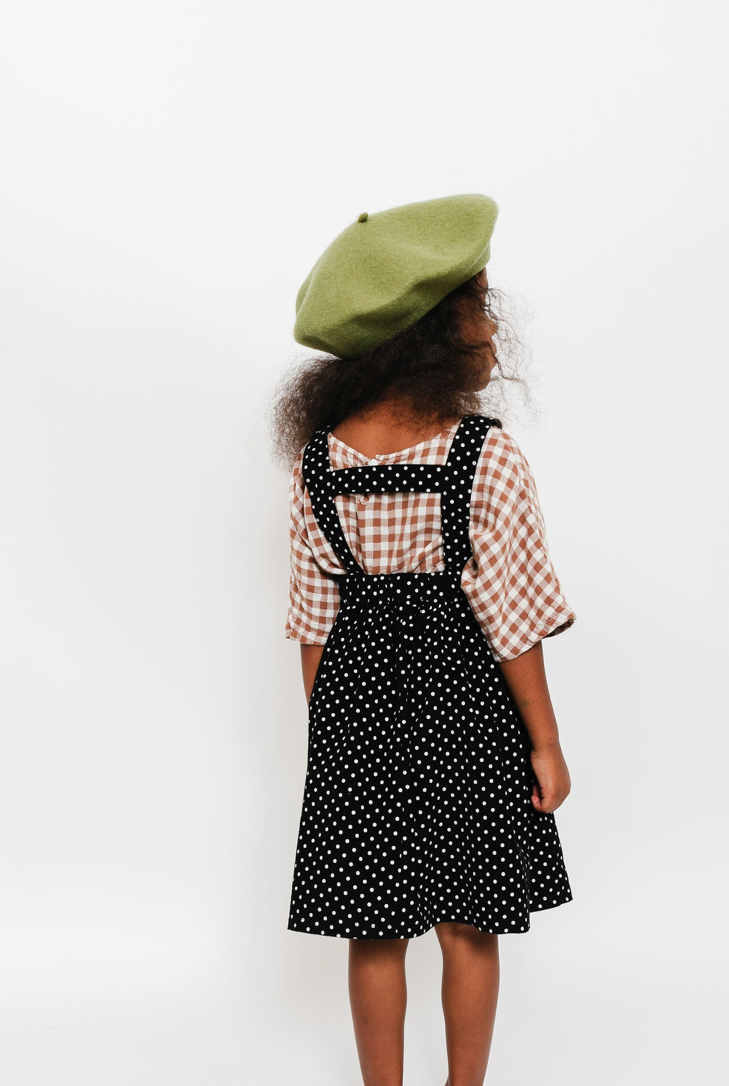 BLACK SWISS DOT SUSPENDER SKIRT