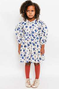 PUFF SLEEVE FLOWER DRESS