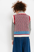 MIXED PRINT SWEATER VEST