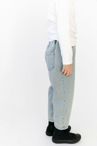 PLEATED CROP JEANS