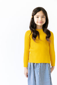 MUSTARD RIBBED TOP