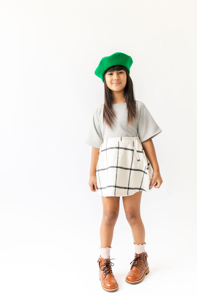 PLAID A LINE SKIRT