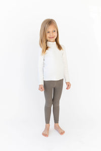TAUPE RIBBED LEGGINGS
