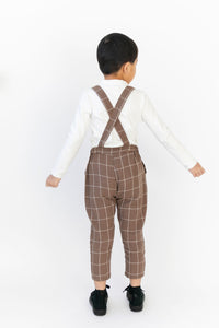 PLAID CROPPED SUSPENDERS