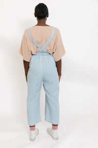 ADULT LIGHT DENIM MOUSE OVERALLS