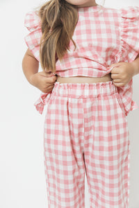 GINGHAM RUFFLE SET