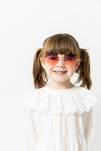 ROSE COLORED FLOWER SUNGLASSES