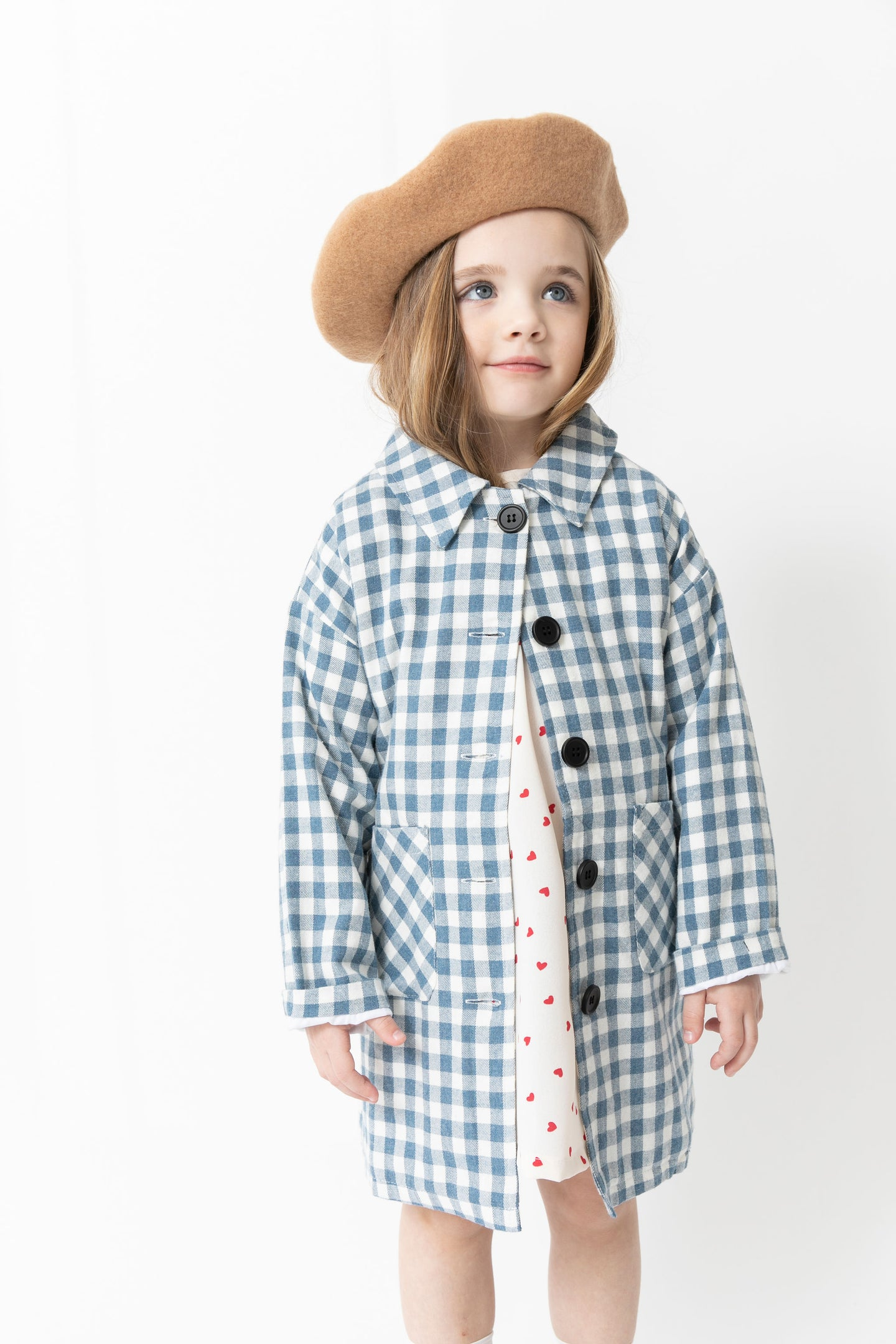 BLUE GINGHAM JACKET