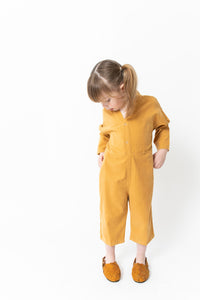 CROPPED CORDUROY JUMPSUIT