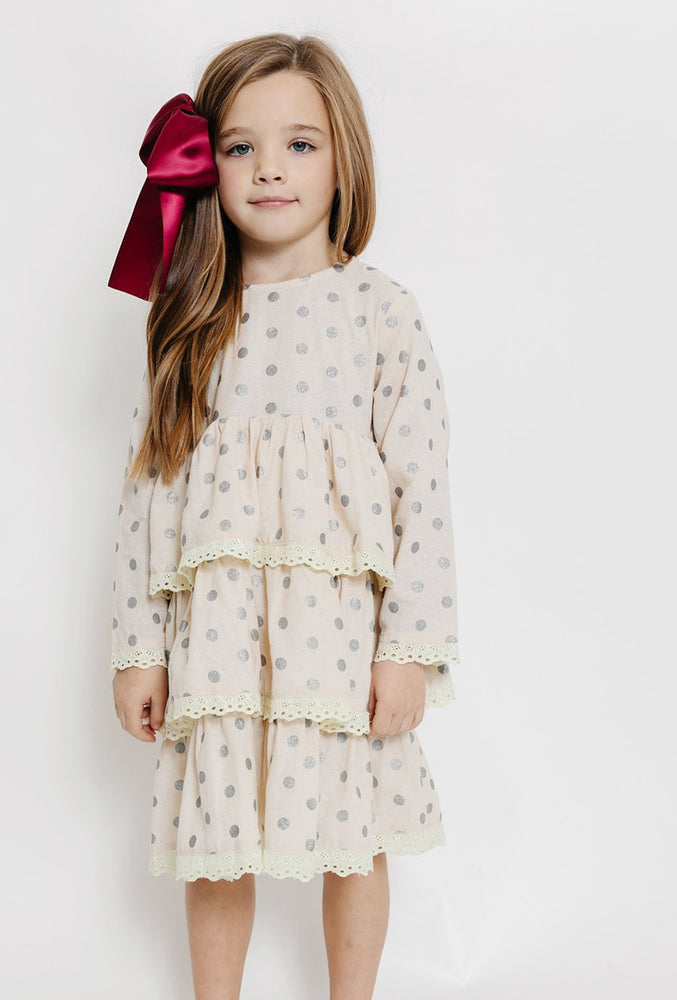 POLKA DOT RUFFLE TIER DRESS