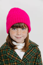 HOT PINK RIBBED BEANIE