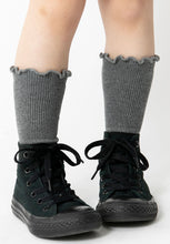 CHARCOAL RIBBED SOCKS