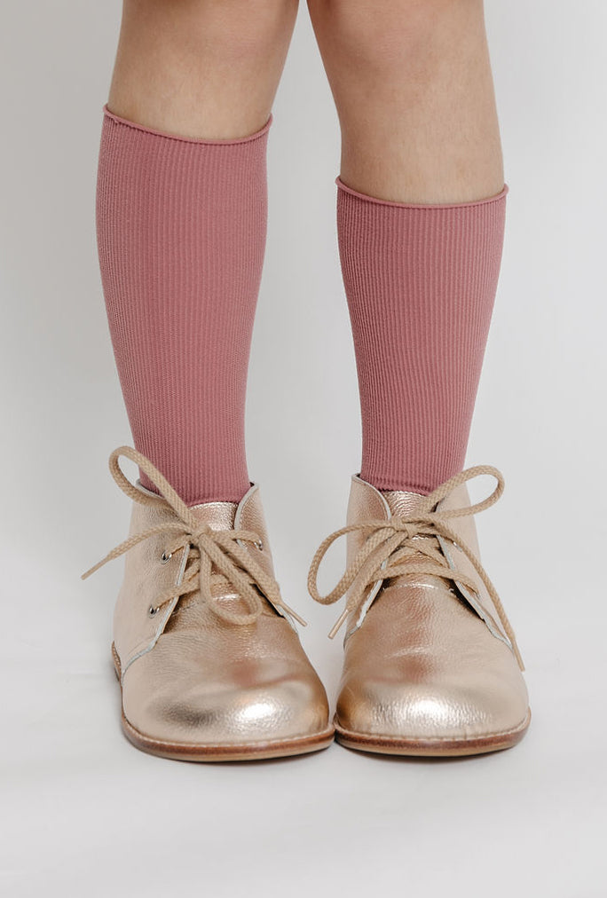 DARK MAUVE RIBBED SOCKS
