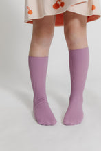 PURPLE RIBBED SOCKS
