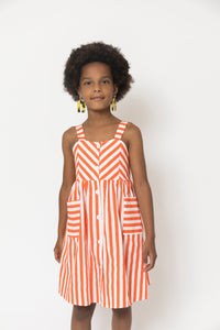 STRIPED BUTTON UP TANK DRESS