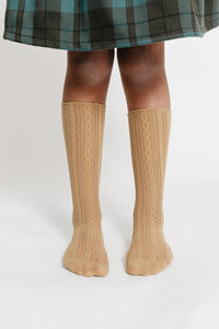 TAN LACE SOCKS