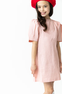 BLUSH BACK TIE DRESS