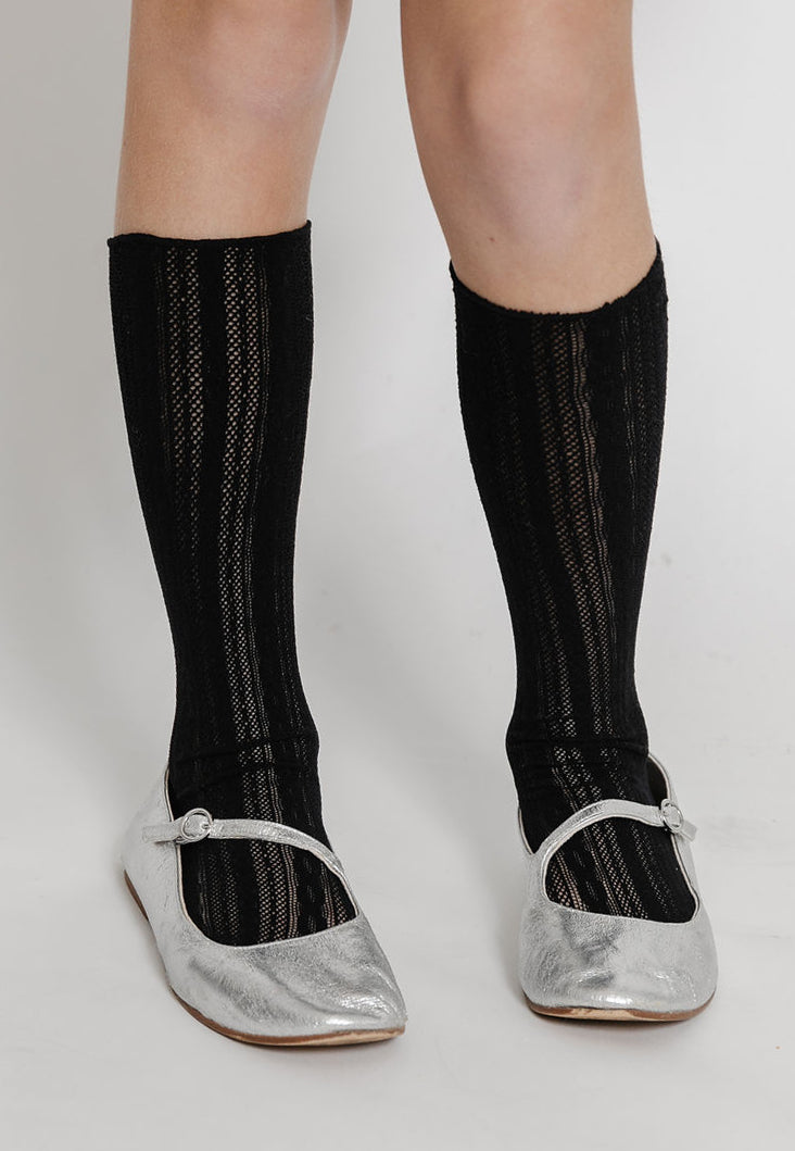 BLACK LACE SOCKS