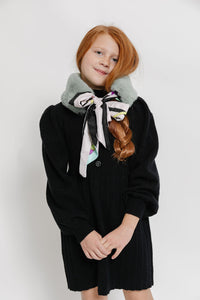 MINT/BLACK COLLAR SCARF