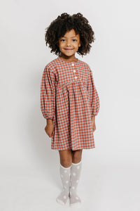 GINGHAM BUTTON NIGHTGOWN DRESS