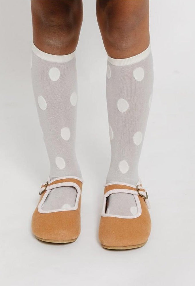 CREAM POLKA DOT SOCKS