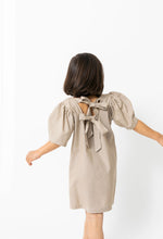SAND BACK TIE DRESS