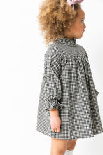 BLACK GINGHAM NIGHTGOWN DRESS