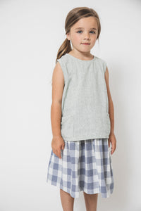 GINGHAM POCKET TANK