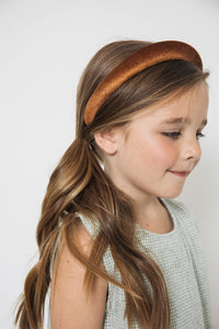 BROWN VELVET HEADBAND