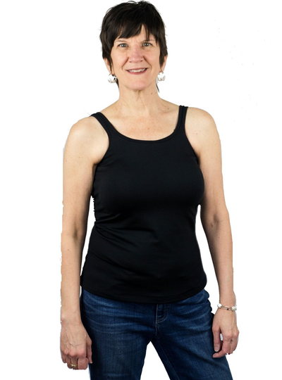 Complete Shaping Mastectomy Camisole / Classic Tank Top with Built-In Breast Prosthetics