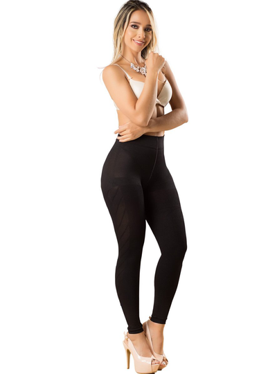 Laty Rose Media Leggings Con Diseño Levanta Glúteo