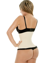 Fiorella Latex Waist Cincher Trainer Corset 2 Rows