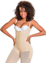 Fajas M & D Covered Back, Bottom Zipper And Abdominal Support