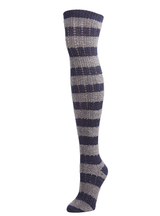 MeMoi Toulouse Over the Knee Striped Sock
