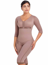 Delie by Fajas D'Prada Knee-legth shapewear with built-in bra and arm sleeves
