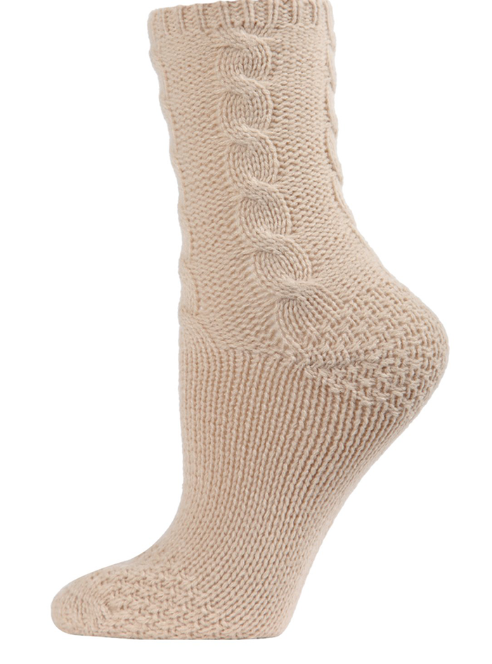 MeMoi Cable Sweater Knit Crew Socks
