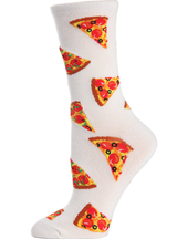 MeMoi Pizza Slice Bamboo Blend Crew Socks