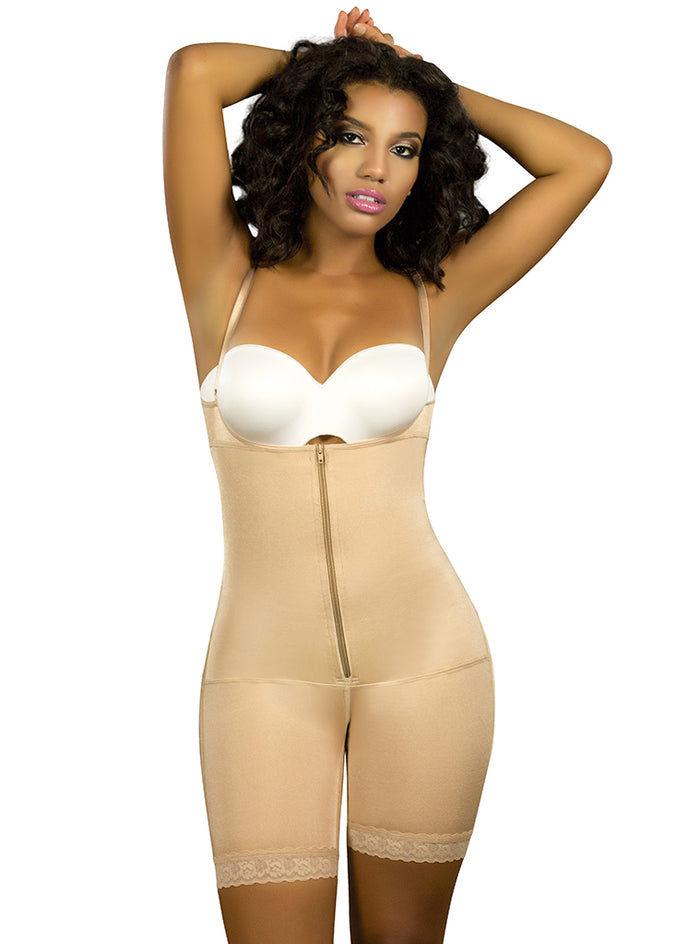 Vedette Mid-thigh Full Body Shaper Front Zipper