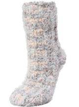 MeMoi Cozy Blend Sherpa Lined Crew Slipper Socks