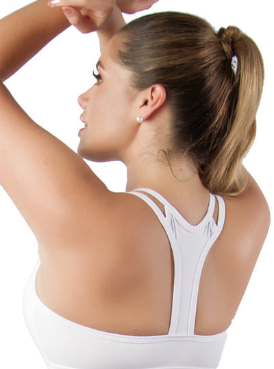 Vedette White Top Sports Bra Top