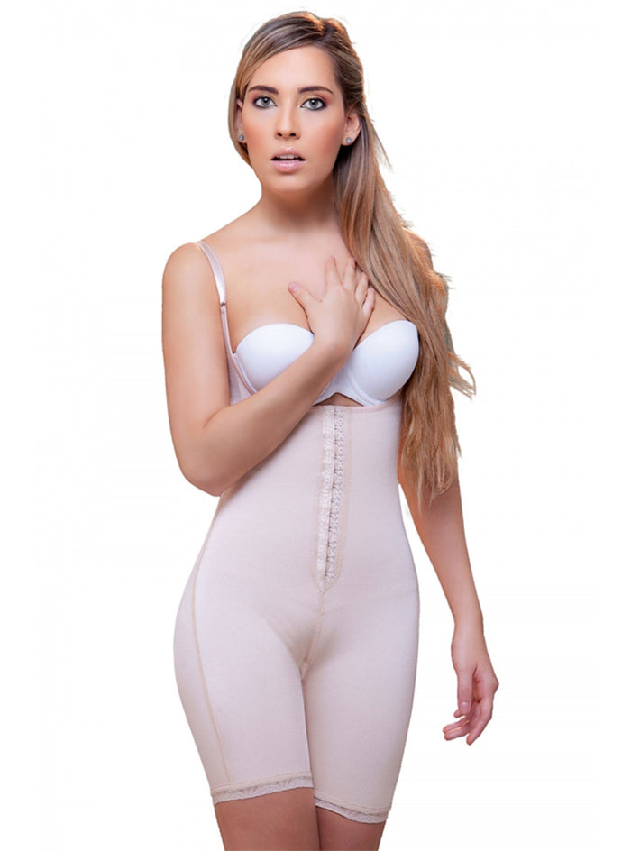 Vedette Amelie Open Bottom Mid thigh Shaper w/ Front Closure