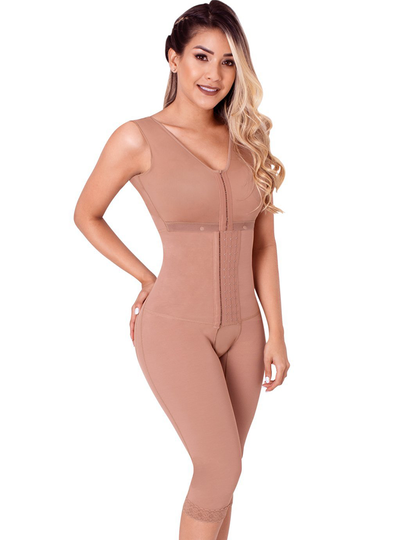 Fajas Sonryse Colombian Full Body Shaper for Post Surgery with Built-in Bra